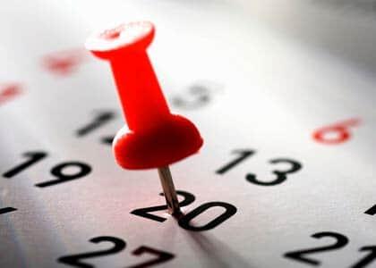 Tribunais definem calendário para 2015