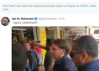 Twitter apaga publicações de Bolsonaro por contrariarem orientações de saúde pública